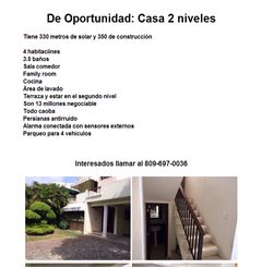 De Oportunidad: Casa 2 niveles - Publicidad