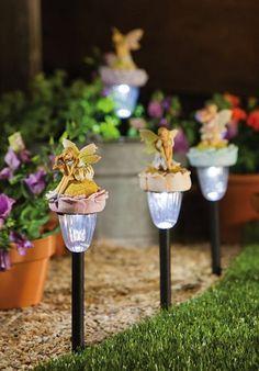 Solar Fairy Garden Stake-Choose Your Color