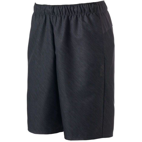 Big & Tall FILA Sport® Daily Woven Shorts ($17) ❤ liked on Polyvore featuring men's fashion, men's clothing, men's activewear, men's activewear shorts, dark grey, mens activewear and mens activewear shorts
