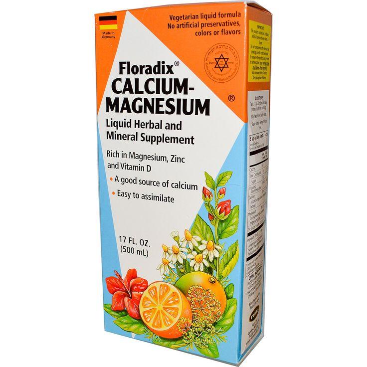 Flora, Floradix Calcium-Magnesium, 17 fl oz (500 ml) - iHerb.com