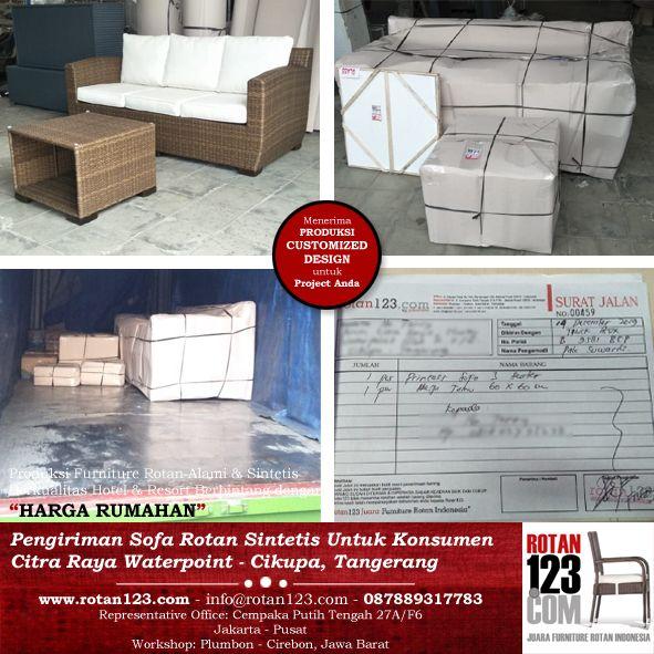 Produksi Delivery Furniture Sofa Minimalis Rotan123 Ke Cikupa Tangerang Sofa Furniture Rumah