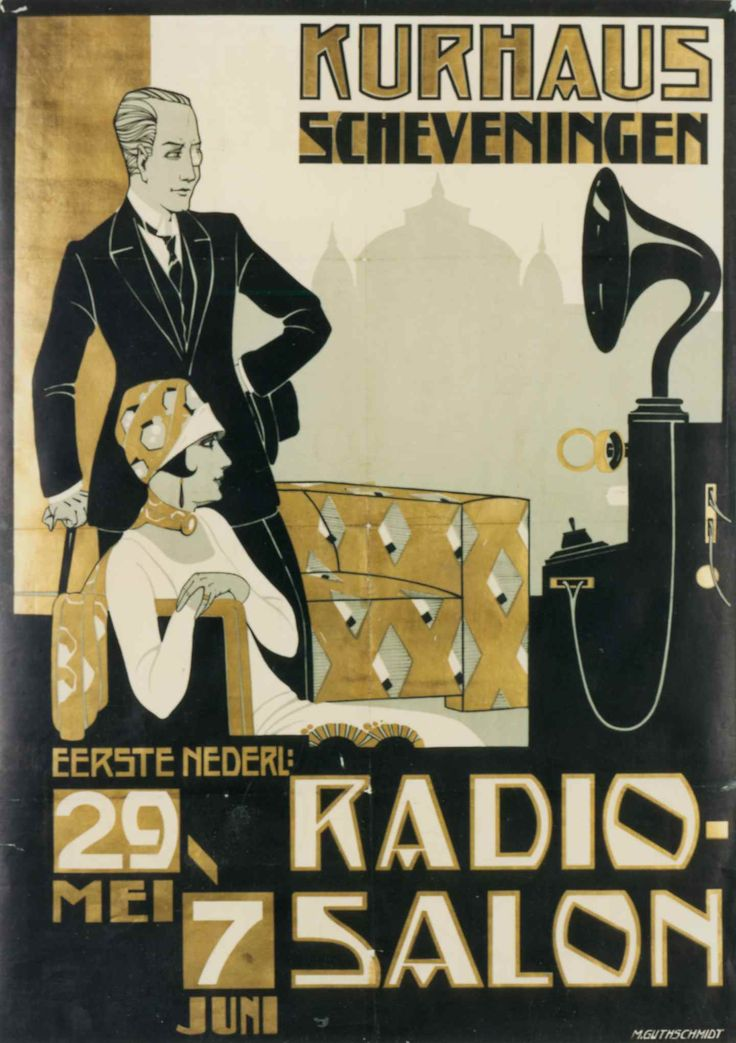 Radio Salon poster, Den Haag, 1925 (Western Electric?)