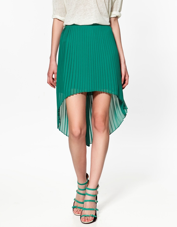 Zara skirt. Pretty stoked that pleats are back!  I am not sure about the different length.