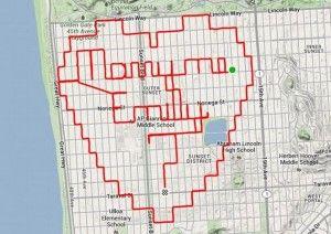 Un ciclista usa el GPS para pedirle matrimonio a su pareja - Cachicha.com