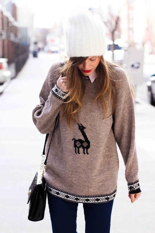 i would like a llama sweater