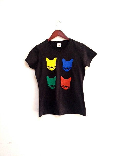 Large size womens cotton tshirt  Hand print tshirt by COOLLeggings