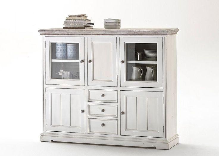 highboard wei holz bestseller shop f r m bel und einrichtungen. Black Bedroom Furniture Sets. Home Design Ideas