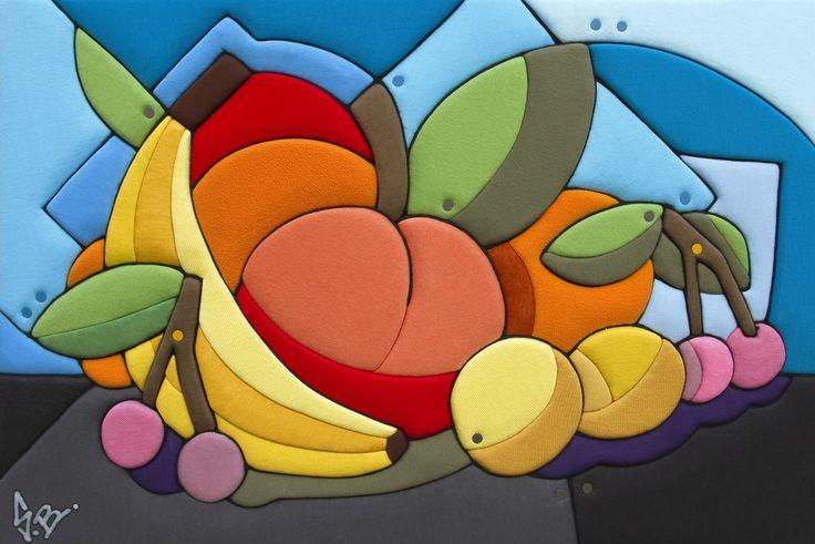 """Sculture Vestite di Stefano Bressani """"Natura morta - Frutta"""" 50x75x6 cm - 2014 Opera n° 306 All rights reserved ©"""