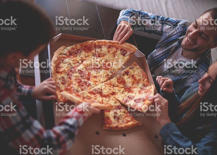 Pizza at home royalty-free stock photo