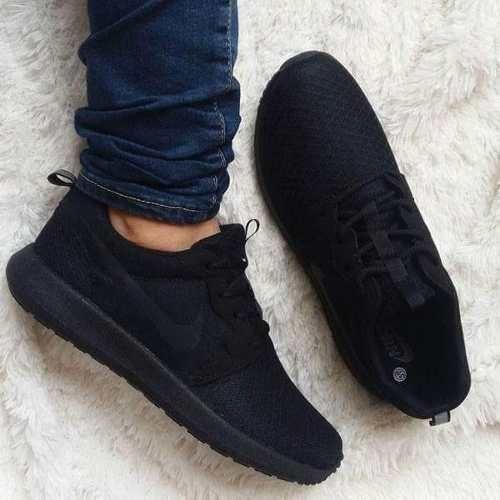 Tenis Zapatillas Nike Roshe Negras Para Hombre Y Mujer ...