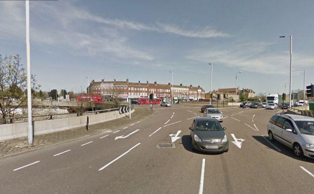(PHOTO: Google)  Britain's most dangerous roundabouts revealed:  8. Great Cambridge Junction, Enfield, London