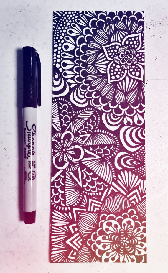 Zentangles and Art: Items similar to Zentangle - Skinny Zen on Etsy