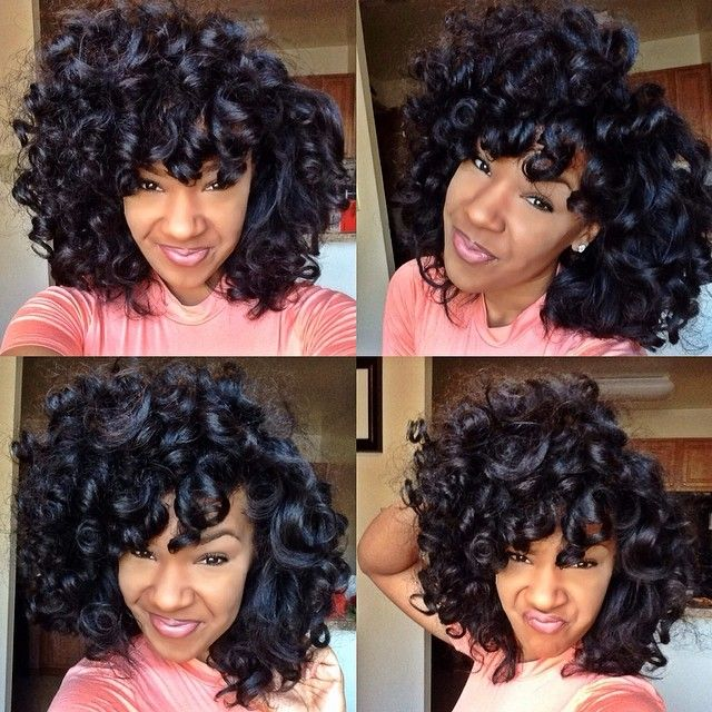 Spiral curls done with perm rods
