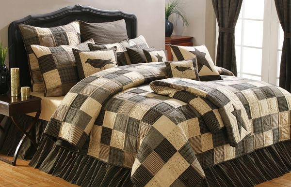 Country Primitive Bedding and Curtains | ... Country Charm - Primitive Bedding, Primitive Quilts, Country Quilts