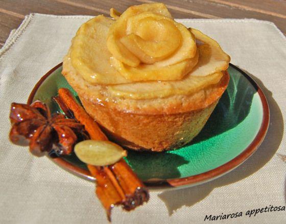 muffin rosa di mele e cannella
