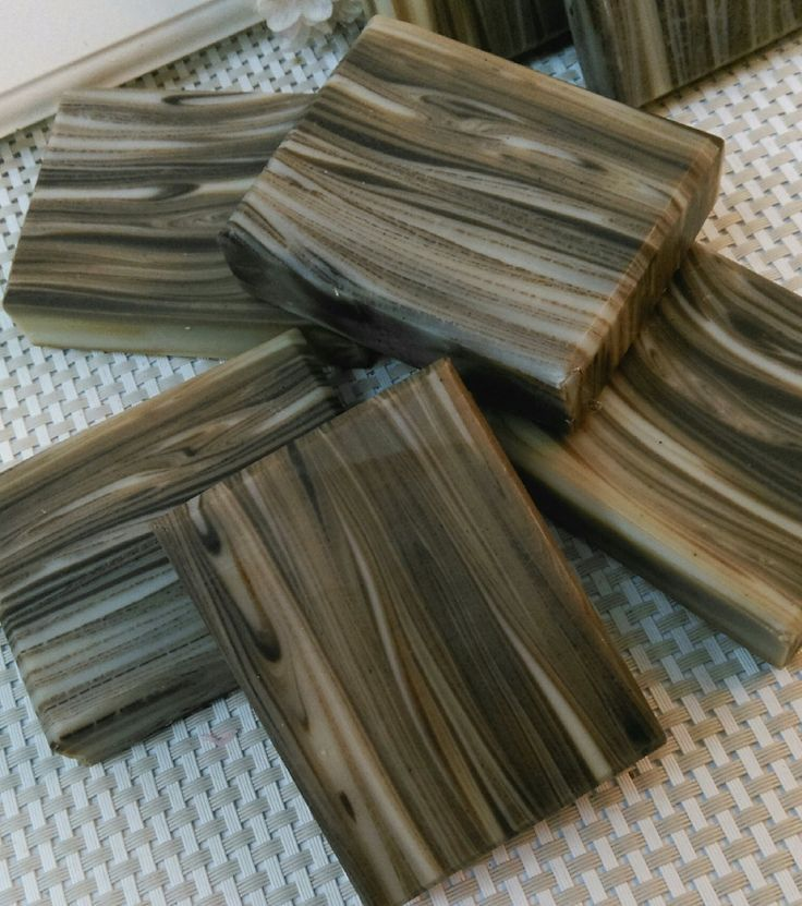 wood grain cold process soap