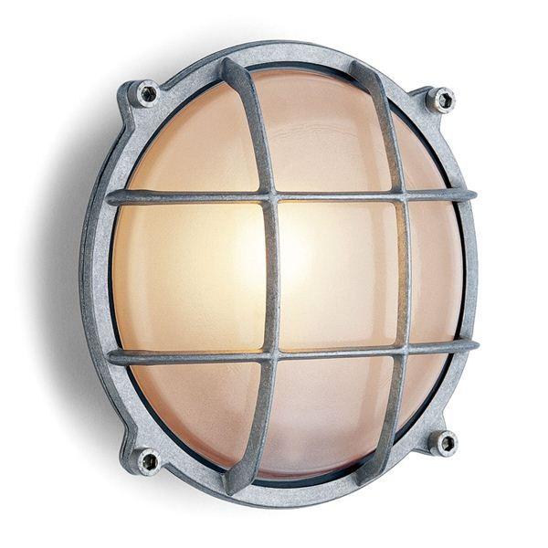 Wandlamp aluminium rond. DeJaren30Fabriek.nl Industrials & Design. Buitenverlichting, schakelmateriaal, fabriekslampen, stallampen.