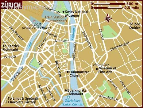 Inspirational cool Map of zurich