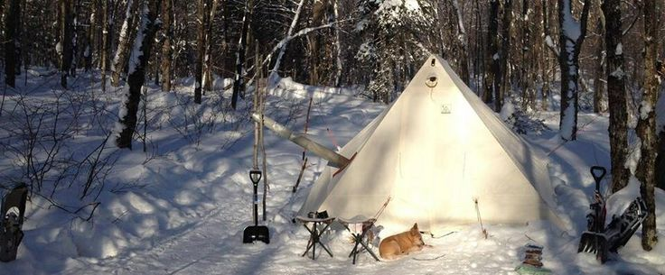 Our tent. Winter camping