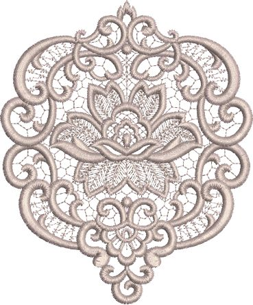 Sue Box Creations | Download Embroidery Designs | 36 - Fleur Motif