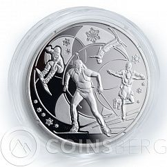 Ukraine, 10 grivnas, XXII Olympic Winter Games, Sport, Sochi, 1 Oz silver, 2014