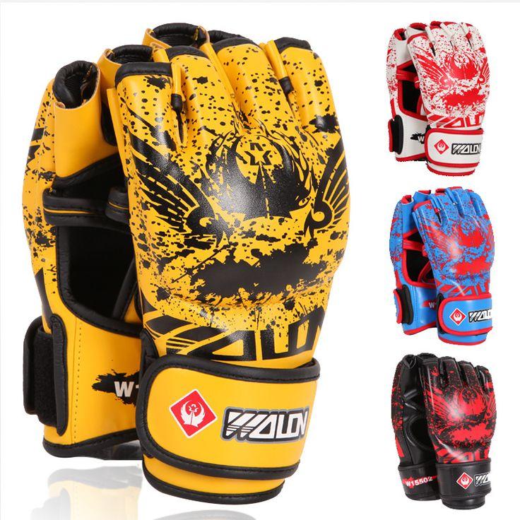 Volwassen Dikke Bokshandschoenen MMA Handschoenen Half inger Sanda Taekwondo Vechten MMA Zandzak Handschoen Professionele Trainingsapparatuur