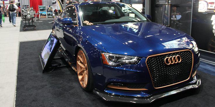 2014 Audi A5 Sema Custom Car For Sale: Magnaflow Project Blue Copper Audi A5 At SEMA 2013