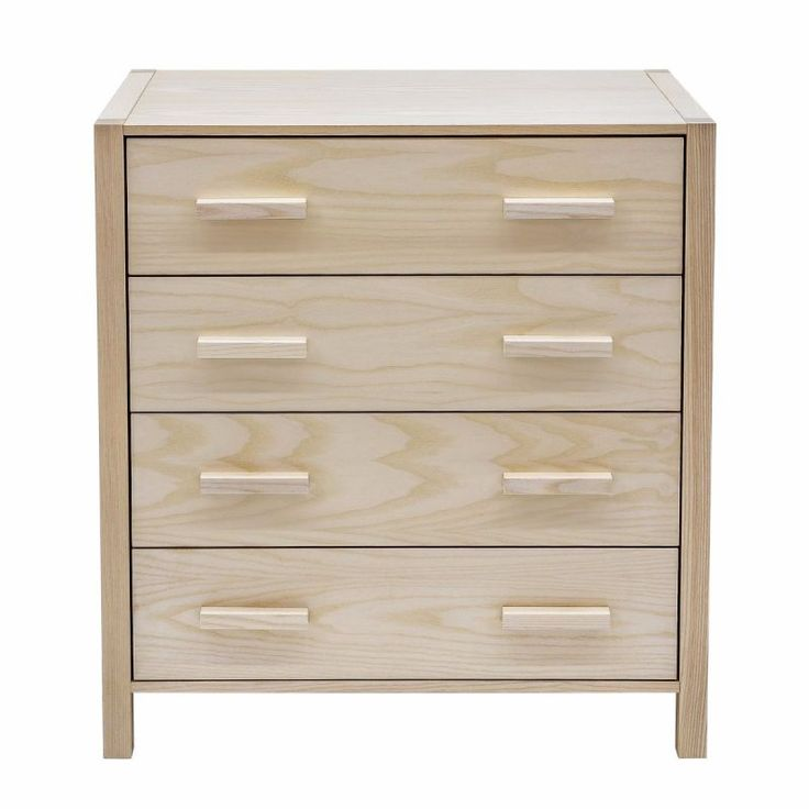 This four drawer chest stands up on it's own two (or four) feet. It's contemporary style combined with the beauty of ash wood grain sets it apart (even though it cooridnates perfectly well with its cohorts)