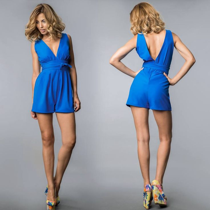 The Ruby Playsuit in blue!!