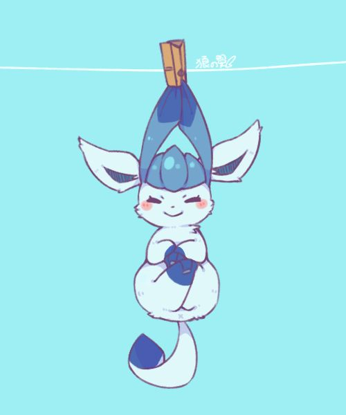 Glaceon out to dry
