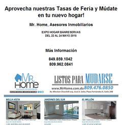 Aprovecha nuestras Tasas de Feria y Múdate en tu nuevo hogar! 849.859.1042  - Publicidad