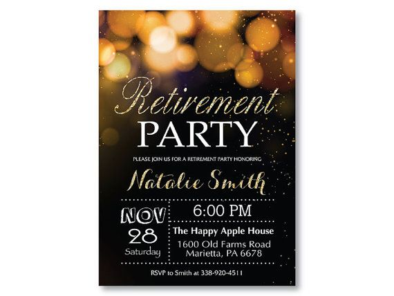 7 best images about Dads retirement party ideas – Retirement Party Invitations Ideas