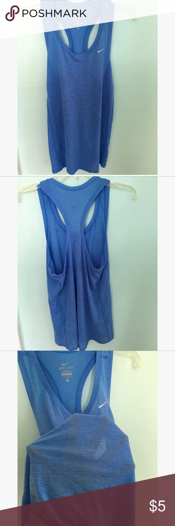 nike semi see through tank top Size S . Loose fit . In excellent condition. No holes or stains.  🌺🌷THIS TOP CAN BE YOUR FOR FREE IF YOU BUY AN NIKE ITEM FROM MY CLOSET 🌷🌼 Nike Tops Tank Tops
