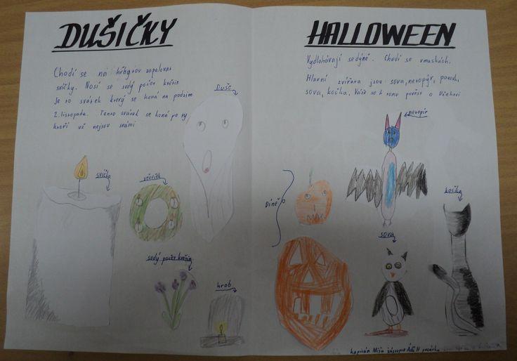Dušičky vs. Halloween (rozdíly) - skupinová práce