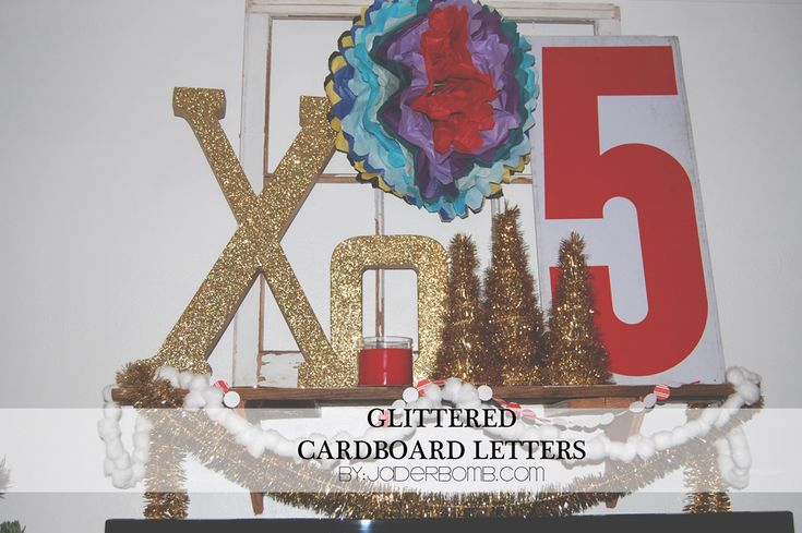 How to make: Glittered Cardboard Letters {{by: jaderbomb}}