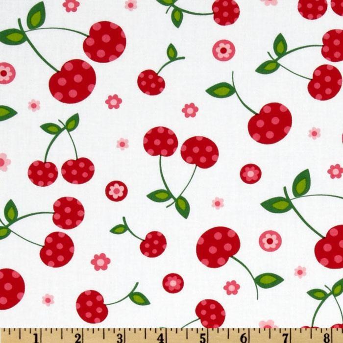 Picnic Party Cherries White