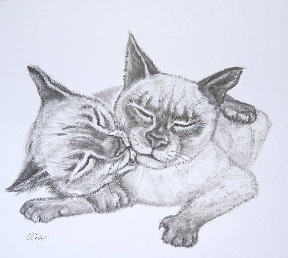 Сиамские котята, автор Ольга Соболь. Артклуб Gallerix