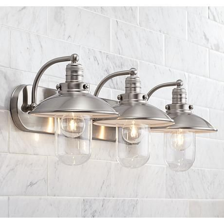 This Bathroom Light Features Clear Gl For Bright And Stylish Illumination Kitchen Lighting Fixtures Pinterest Lights