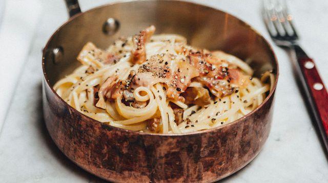 Spaghetti alla carbonara.