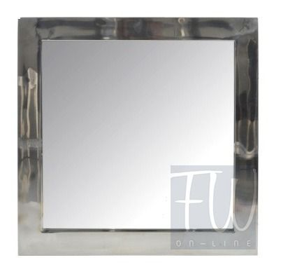 Lustro wiszące SILVER  Szkło Stal 60xH60cm