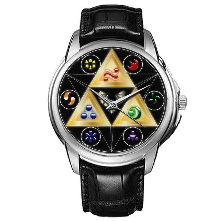 Zelda+Unisex+Silver-tone+Round+Metal+Sport+Watch