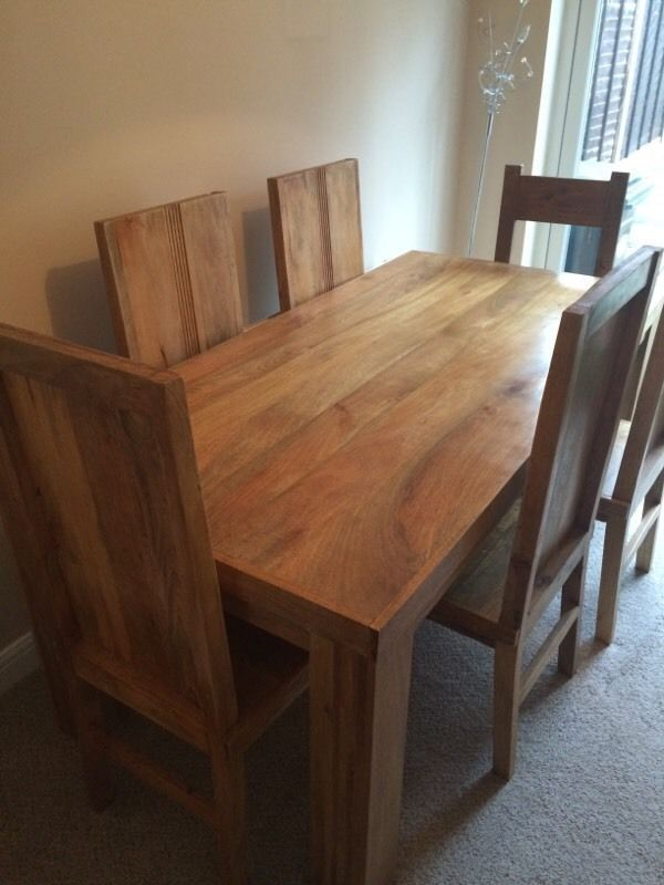 26+ Mango wood dining table and bench Top