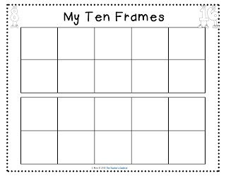 tens frames to print-laminate, stick in math folder and use over again!
