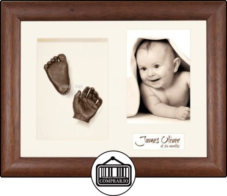 Anika-Baby Kit de moldeo para huellas de bebé marco para 3fotos madera oscura paspartú crema/fondo crema/pintura bronce 29,1x 21,6cm  ✿ Regalos para recién nacidos - Bebes ✿ ▬► Ver oferta: http://comprar.io/goto/B00ICSVH4A
