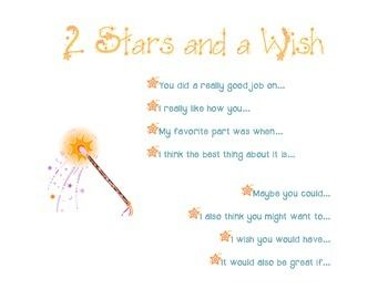 2 Stars and a Wish- Peer Conference, Writers' Workshop