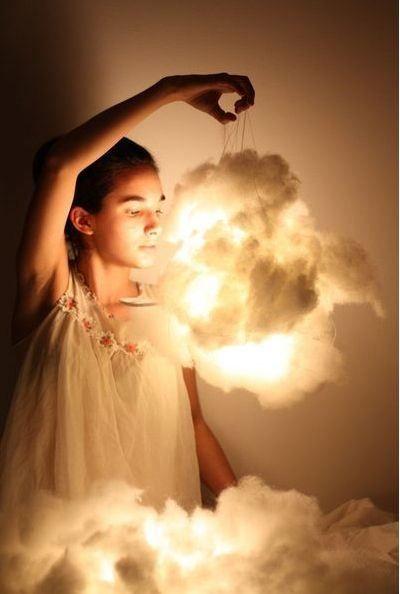 Aprenda a fazer uma luminária em forma de nuvem