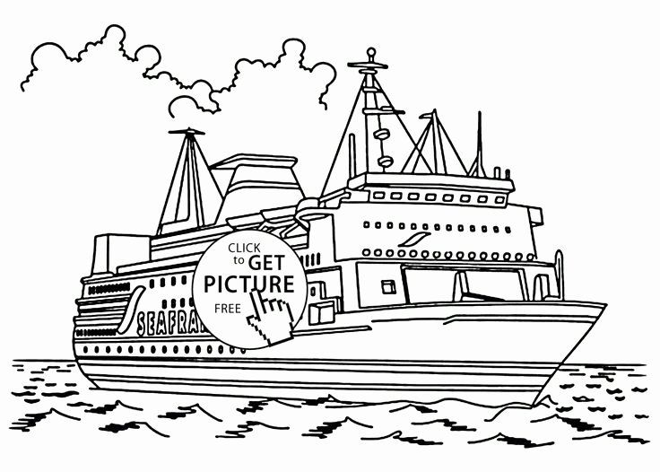 Cruise Ship Coloring Page Inspirational Real Cruise Ship Coloring Page For Kids Transportation Col In 2020 Minion Coloring Pages Coloring Pages Coloring Pages For Kids