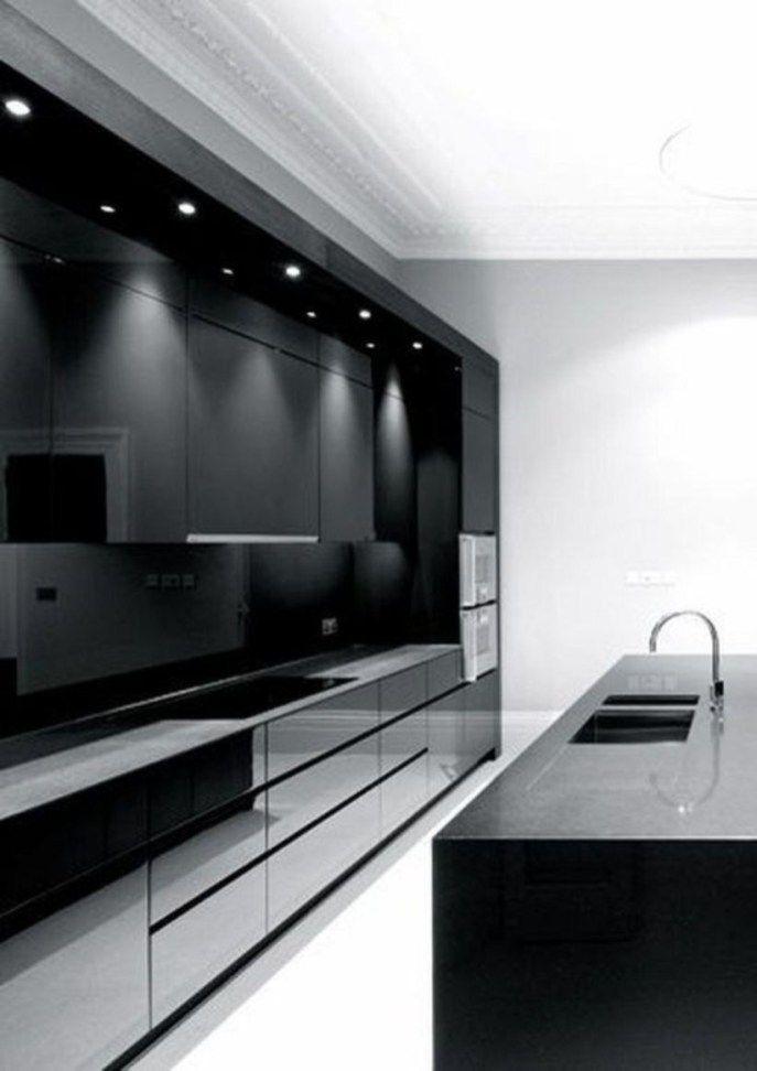Stylish Black Kitchen Interior Design Ideas For Kitchen 01 Modern Kitchen Remodel Kitchen Inspiration Modern Modern Kitchen Design