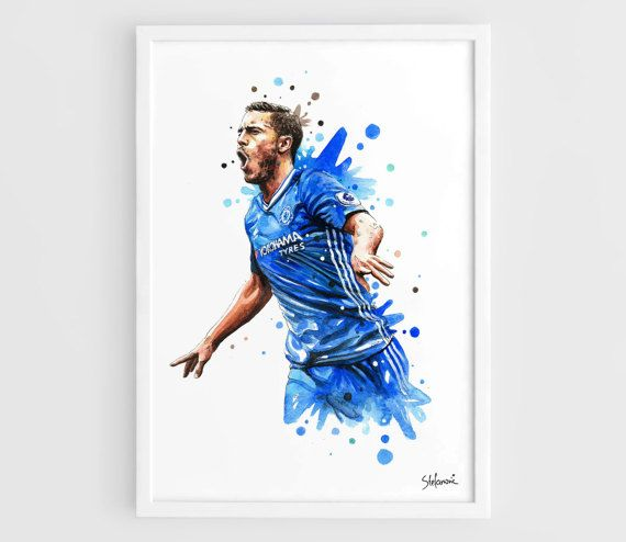 Eden Hazard 2017 Chelsea FC  A3 Wall Art Print Poster of the