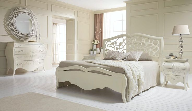 Letto in stile liberty, Letto interamente in legno, Letto con testiera traforata Camera hotel, Camera, Suite d'Albergo My Classic Dream - letto cod. 691